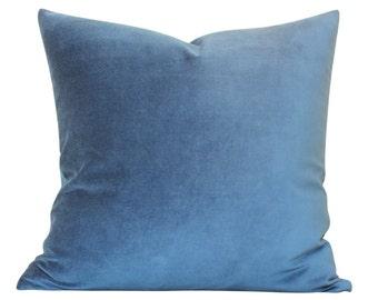 Navy Blue Velvet Pillow Cover