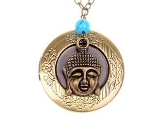 Necklace Medallion bouddha locket