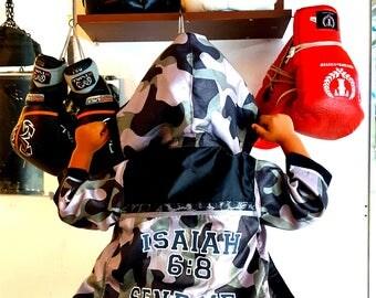 The Custom Baby Boxing Robe/Vest Set Custom Fabric Prints