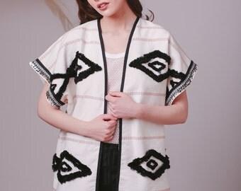 Hand made Bohemian jacket,Tapestry jacket,Southwestern jacket,Festival clothing,Gypsy clothes,Kimono jacket,Lightweight jacket,Tapestry coat