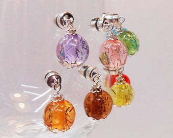 Colorful Wine Glass Charms, Magnetic Wine Glass Charms, Wine Charms, Stemless Wine Charms, Glassware Charms, Gift Basket Items,