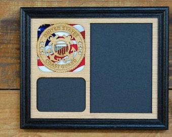 8x10 US Coast Guard Frame, US Coast Guard Gift, Coast Guard Retirement, Coast Guard Memorabilia, Coast Guard Decor, Coast Guard Gift
