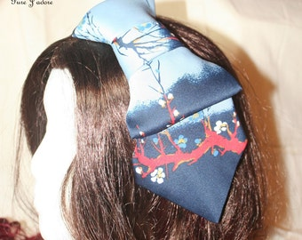 FINAL SALE - Floral Print Bow Tie Headband