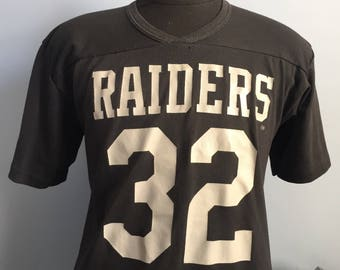 80s Vintage Marcus Allen #32 Los Angeles Raiders nfl football Rawlings Jersey T-Shirt - LARGE