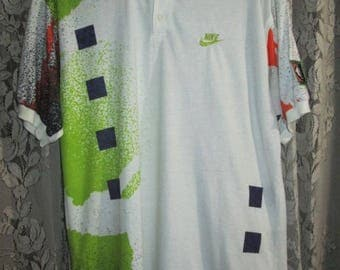 Vintage Nike Challenge Court Andre Agassi Tennis Polo shirt Original Made In USA