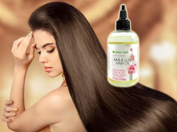 Amla Luxe: Amla, Bhringraj, Hibiscus, Aloe & Licorice Coconut oil for hair growth, Grow Hair Indian Hair Oil, Herbal hair growth oil