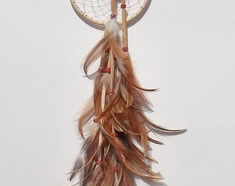 HEART DREAM CATCHER Cream and Red Heart Concho Dream Catcher