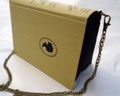 Jane Austen Pride and Prejudice Book Purse Yellow Bag Clutch - Upcycled Book