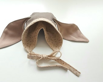 Classic spring weight bonnet with floppy ears -ONLY 1 LEFT***