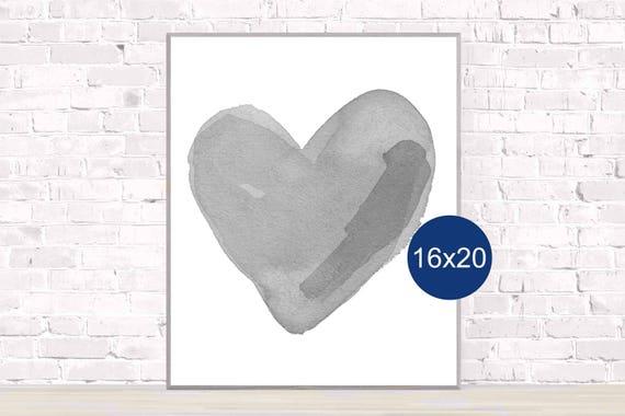 Gender Neutral Poster; Gray Heart