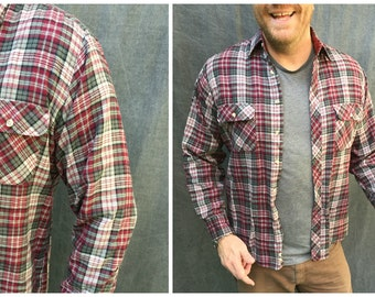 Vintage High Sierra Plaid Flannel Shirt // Men's Size Large