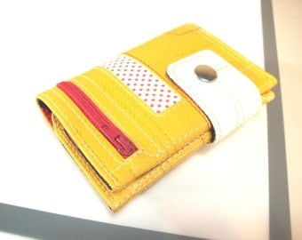 Yellow wallet for womens, Small wallet, Women's wallet, Unique wallet, Vegan wallet Womens, Vegan Woman wallet, Vegan wallet, Women billfold