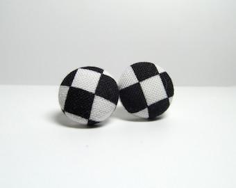 Annie Fabric Button Earrings