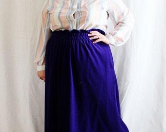 Plus Size - Vintage Pastel Stripe Shirt Collar Blouse (Size 22W)