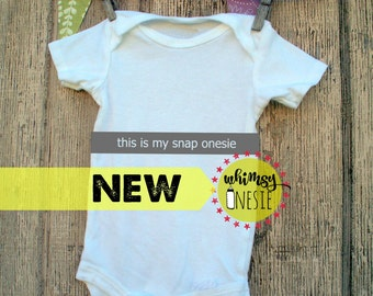 This is my snap onesie by Whimsy Onesie social media selfie  birth announcement baby shower new mom pregnant funny snapchat