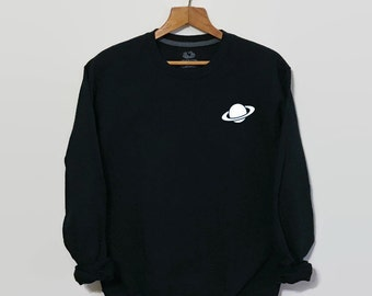 Planet Sweatshirt, Space Sweatshirt, Tumblr Sweatshirt, Tumblr Clothing, Grunge Sweatshirt, 90s Grunge Clothing, Women's Sweatshirt