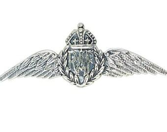 Antique RAF WW Sweetheart Brooch 925 Sterling Silver