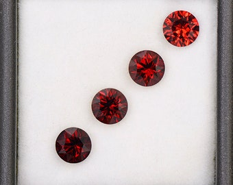 Beautiful Crimson Red Rhodolite Garnet Gemstone Set from Tanzania 3.71 tcw.