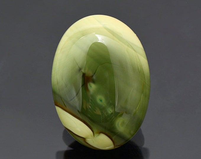 SALE EVENT! Lovely Green Imperial Jasper Cabochon from Mexico 20.70 cts.