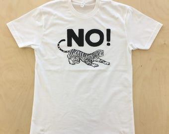 NO! Tiger Tee / White