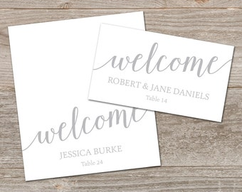 Printable Place Cards Silver, DIY Place Cards // Grey Place Cards for Wedding // Instant Download, Grey Wedding Decor