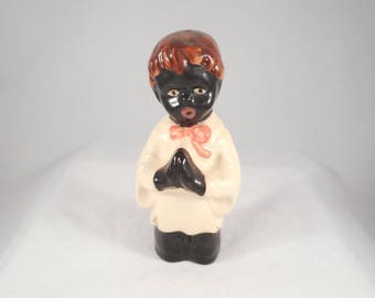 Vintage Pie Bird Black Altar Boy Praying Made in England