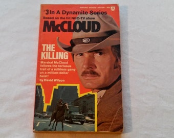 """Vintage Pop Culture Paperback, """"McCloud: The Killing"""" by David Wilson. Based on the Hit NBC-TV Show, 1974."""