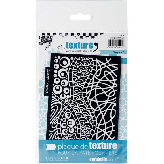 Polyzen 1 -  a zen unmounted Art texture stamp great for polymer clay and other crafts