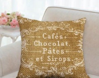 Rustic French Pillow