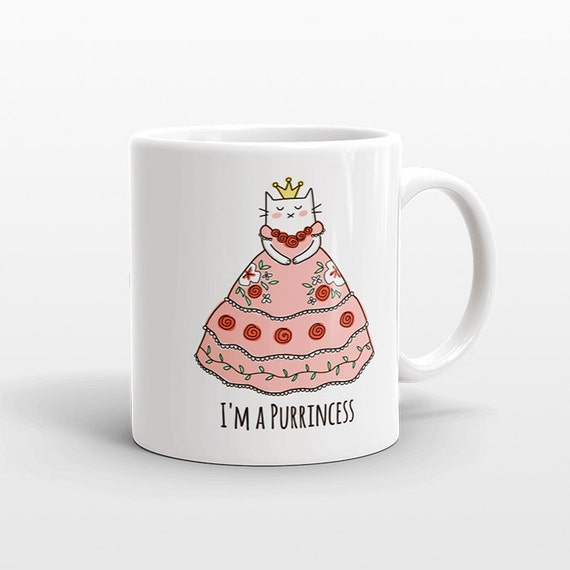 Kids Mug, Cat Mug, Princess Mug, Kids Cup, Girl Gift Idea, Funny Mug, Girlfriend Gift for Her, Kids Gift Idea, Cute Mug, Unique Coffee Mug