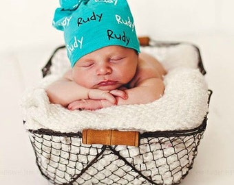 Personalized Baby Knotted beanies