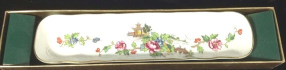 Vintage Floral Mint Tray by Crown Staffordshire of England
