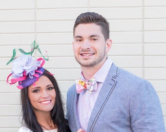 Kentucky Derby Oaks Hat Fascinator and Eric Goff Bowtie Collection