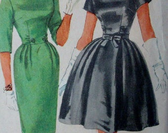 Vintage 1960s  Simplicity Juniors   One Piece Dress with Two Skirts Pattern #3592  Size 11