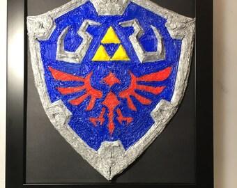Hylian shield Legend of Zelda collectible 3D pen drawing handmade