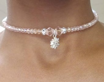 Beaded Choker, Memory Wire Choker, Ohm Beaded Choker, Women's Necklace, Women's Jewelry, Women's Choker, Beaded Necklace