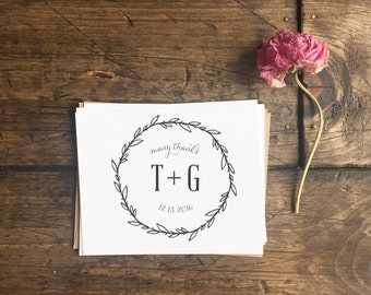 Rustic Wedding Thank You Cards. Custom Personalized Thank You Cards. Wedding Thank You's. Custom Notecards. Wedding gift. Wedding Stationery