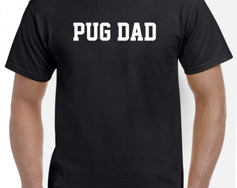 Pug Dad Shirt Tshirt Gift
