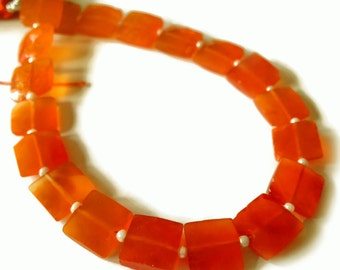 Carnelian faceted squares.   Approx. 8.25mm x 8.25mm.  Select a quantity.