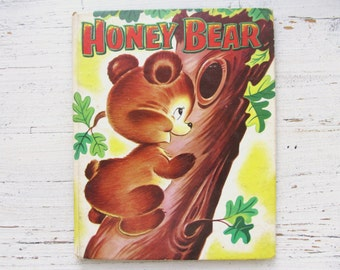 Honey Bear Book . 1953 . Ben Williams . Vintage Honey Bear Farm Book . 1950's Children's Story . 50's Retro Kid's Storybook . Wisconsin