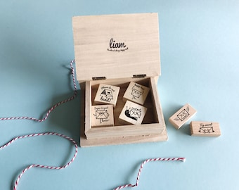 mini Liam rubber stamp set - FREE SHIPPING WORLDWIDE*