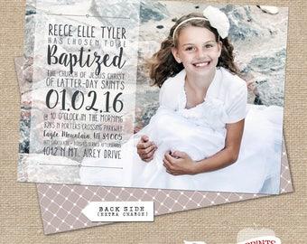 REECE LDS Baptism Announcement
