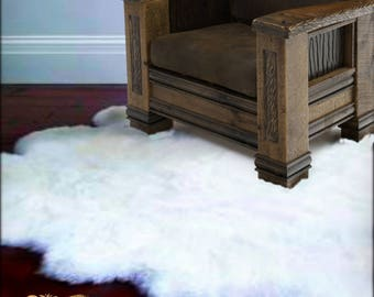 Plush Faux Fur Area Rug   Luxury Fur Thick Shaggy Octo Sheepskin   Faux Fur