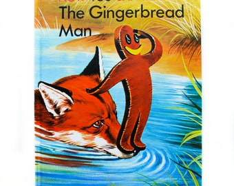 Now You Can Read The Gingerbread Man Book 1984, Brimax Books, Large type for first readers