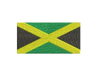 Machine Embroidery Design Instant Download - Jamaica Flag