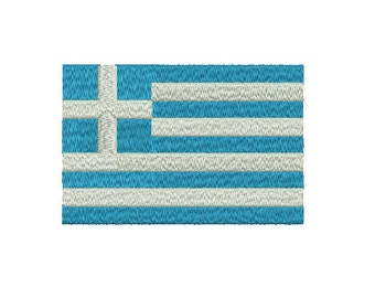 Machine Embroidery Design Instant Download - Greece Flag