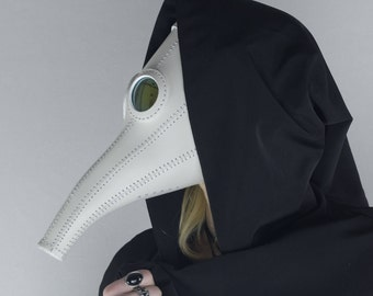 Plague Doctor Mask Costume Steampunk White  Cosplay