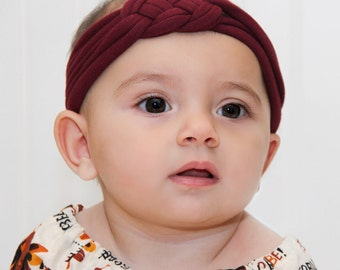 Baby Headband, Turbans, Headbands, Burgundy Headband, Turban Baby Headbands, Baby Girl Headband, Turban Headband, Baby Gift, Baby Headwrap