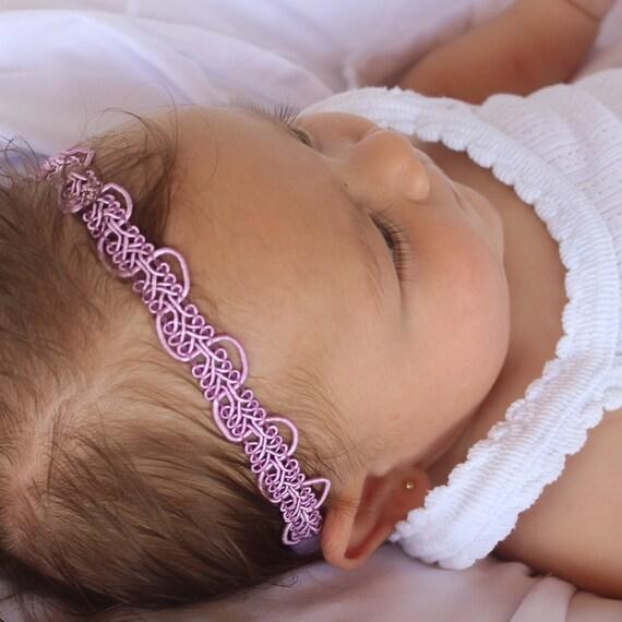 Boho Headband Baby, Purple Headband, Hippie Headband, Halo Headband, Forehead Headband, Newborn Headband, Baby Headband, Toddler Headband