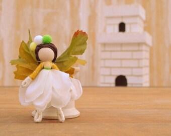 Flower Fairy Doll - flower fairies, miniature fairy doll, miniature fairies, waldorf fairy doll,waldorf fairies,mini fairy doll,mini fairies